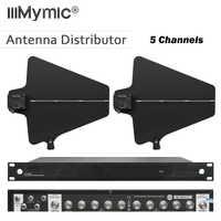 400 meter Frequenz 470-950MHz Fünf Kanäle Antenne Distributor UA844 Microhone Splitter Collector für Wireless Mic System