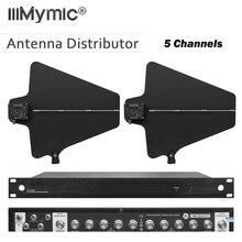 400 metre Frekans 470 950MHz Beş Kanal Anten Dağıtıcı UA844 Mikrofon Splitter Toplayıcı için kablosuz mikrofon Sistemi