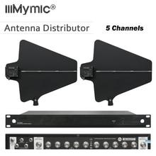 400 metri di Frequenza 470 950MHz Cinque Canali Antenna Distributore UA844 Microhone Splitter Collettore di Polveri per il Sistema Microfonico Wireless