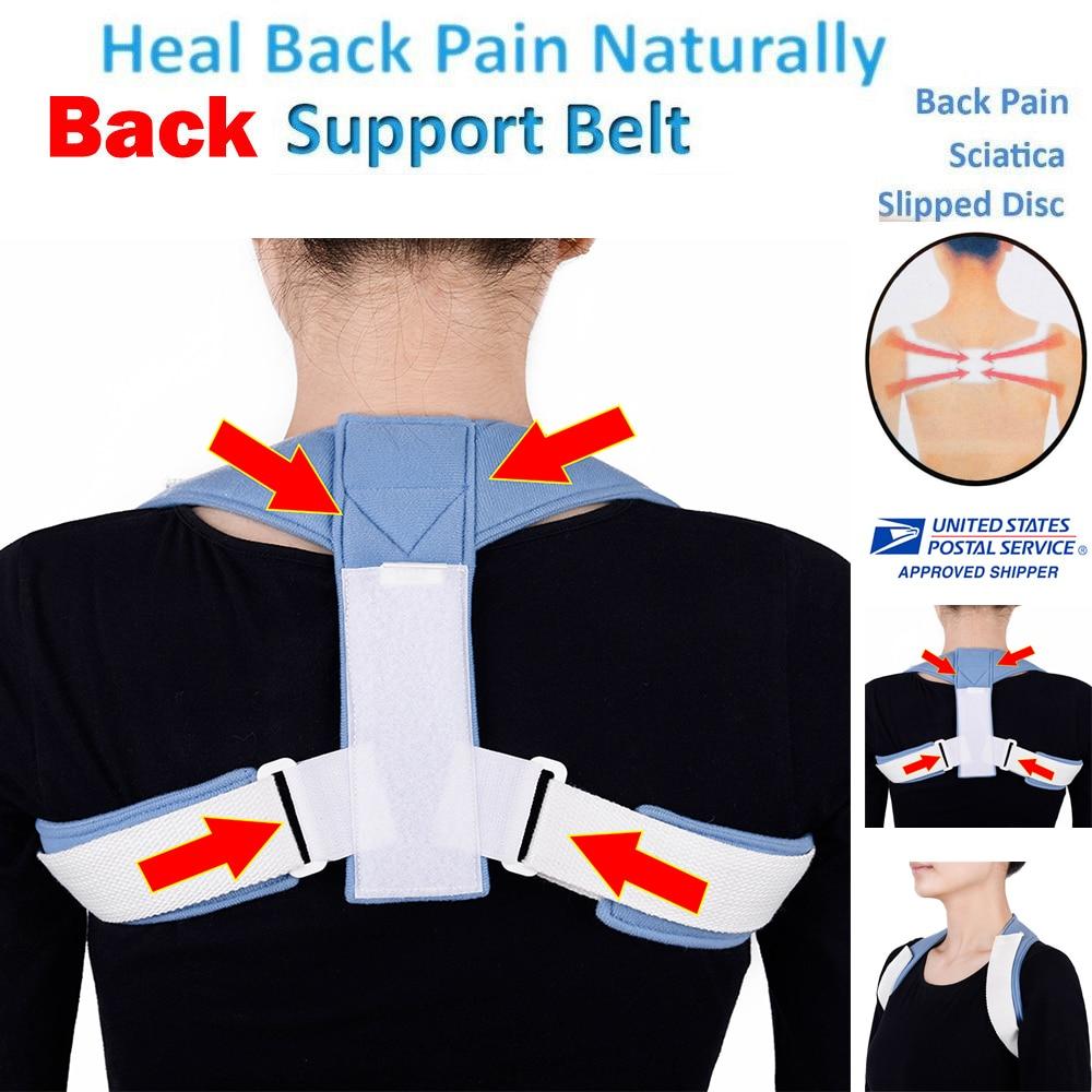 Men Back Posture corrector Support Belt Brace corset Adjustable Lumbar support posture Corrective belt for back therapy medical