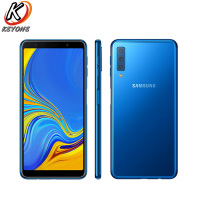 New Samsung Galaxy A7 A750F DS 2018 4G LTE Mobile Phone 6.0 4GB RAM 64GB ROM Three Rear Camera Android Fingerprint Smart Phone