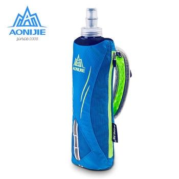 AONIJIE Waterpoof Hand-held Sport Bottle Kettle Pack Storage Bag Outdoor Marathon Running Phone Bag for 500mL Soft Water Flask