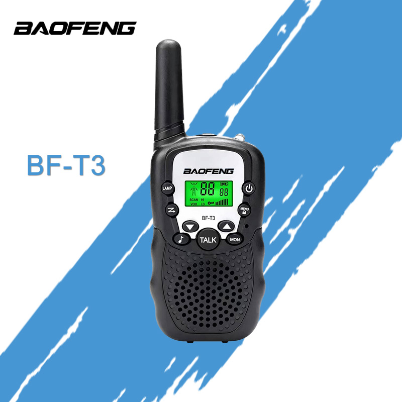2pcs BaoFeng Radio Kids Mini Radio BF-T3 2W UHF462-467 (<font><b>MHz</b></font>) Two Way Radio Convenience Children's Radio Gift image