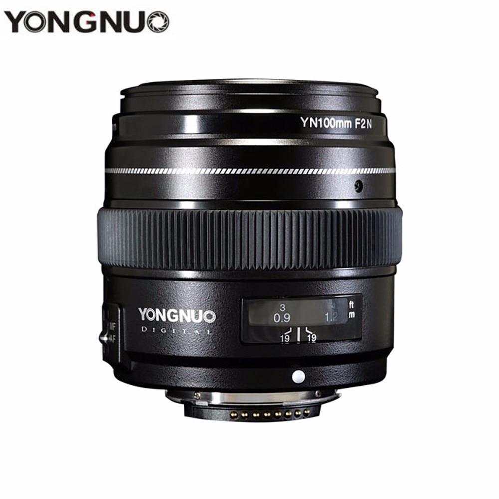 YONGNUO 100 MM YN100mm F2N grande ouverture AF/MF moyen téléobjectif Prime pour Nikon D7200 D7100 D7000 D5600 D5300 d3400 caméra