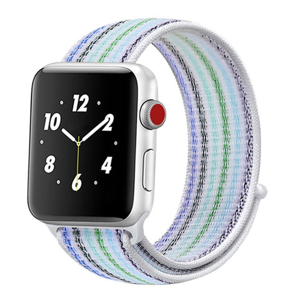 Woven nylon strap For Apple watch Sport Loop band 4 44mm 40mm 42mm 38mm iWatch 4/3/2/1 Bracelet Breathable Lightweight wrist