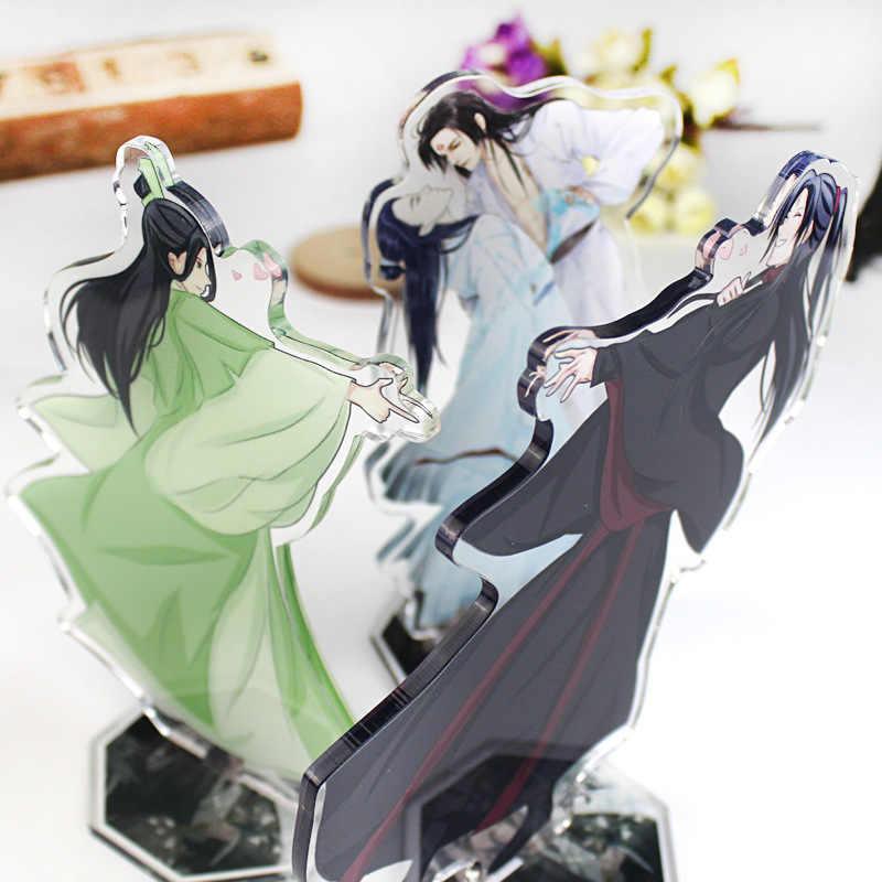 16 centímetros Anime Escória vilão auto Binghe Qingqiu Luo Shen resgate Keychain acrílico Keychain bonito dos desenhos animados Decoração da novidade do divertimento