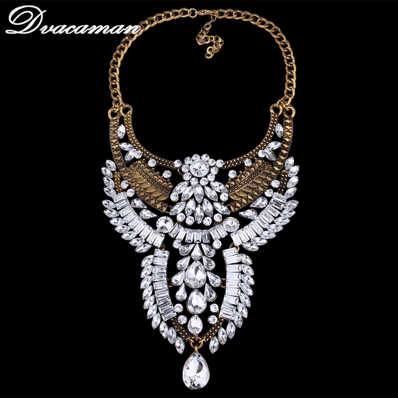 Dvacaman Summer Style Hot sales Bib Collar Choker Maxi Vintage Metal Statement Necklaces & Pendants Fashion Women Jewellery 9773