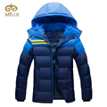 2017 Hooded Red Black Blue Big Size 3XL Size White Down Cotton Warm Winter Jacket Men Campera Pluma Hombre Jacket