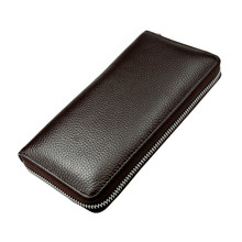 Multifunction Men's Clutch Wallet Long Zipper Wallet Fashion