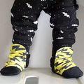 Da criança Do Bebê Meninas Meninos Largas BAT Padrão de Corpo Inteiro Harem Pants SweatPants Corredores Do Miúdo Elástico Inferior