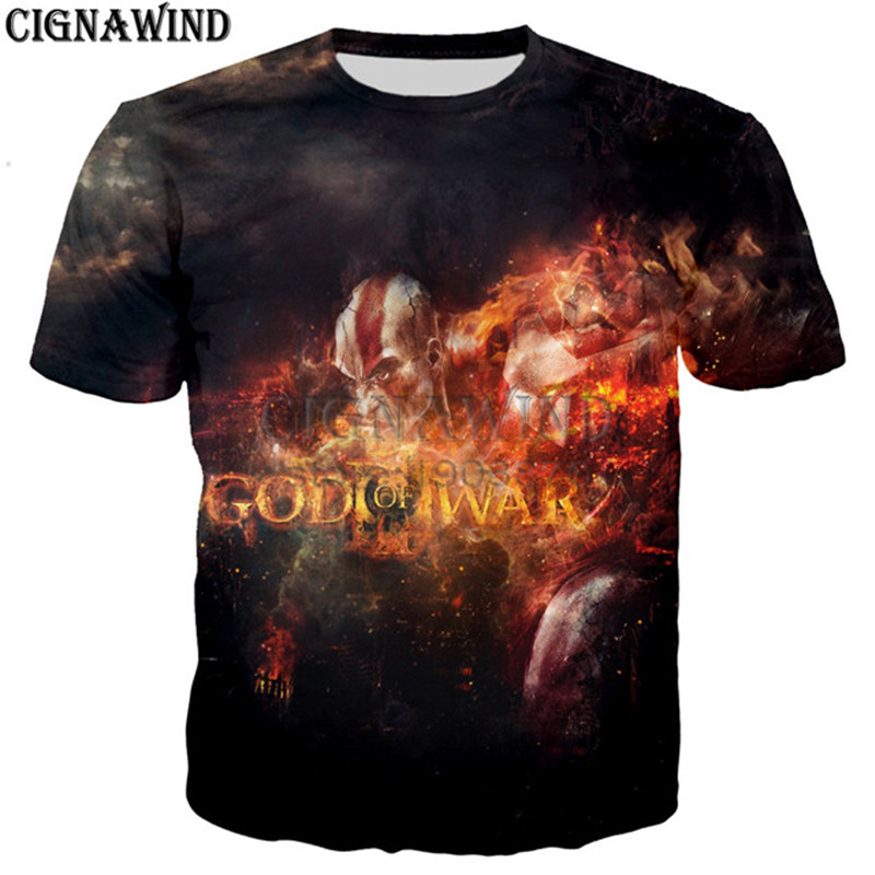 GOW Shirt men/women game Kratos God Of War 3D print t-shirts 3