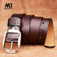 2016 Cowleather Mens Cow Genuine Leather Luxury Strap Male Belts For Men 3 Colors Cintos Masculinos