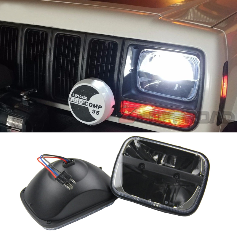 5x7Inch LED square truck front headlights replacement For Jeep Cherokee XJ 6x7