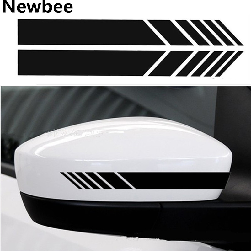Car Decal Sticker Reflective Rear Mirror Auto Decal Stickers Motorcycle Decor Furniture Stickers