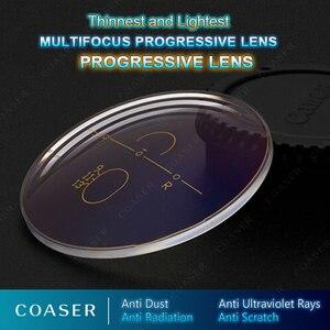 Image 5 - نموذج مجاني متعدد البؤر 1.67 عدسات تقدمية تحويل النظارات اللونية وصفة طبية نظارات قراءة بصرية