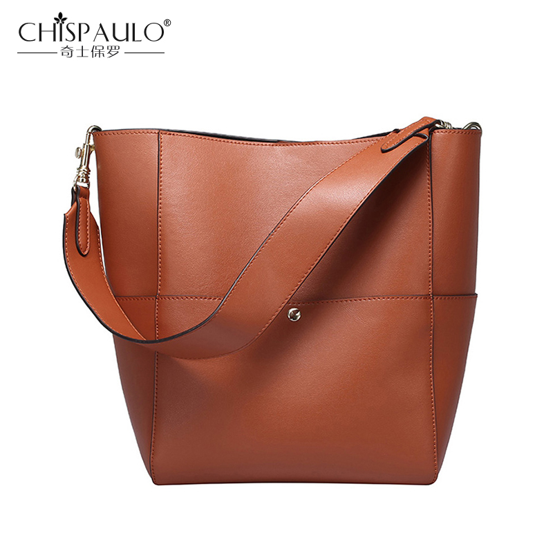 2017 Genuine Leather Women Shoulder Bags High Quality Large Capacity Cow Leather Ladies Handbags Female Casual
