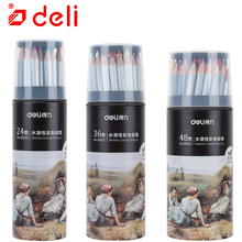 Deli Colored Pencil School Stationery Non toxic Classic Oil Pencil 24 36 48 Color Artist Painting