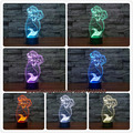 Fairy Tale Mermaid Princess 7 Color Changing LED Baby Night Light 3D Lamp Home Decor Fashion Party Bedroom Lighting Child Gifts