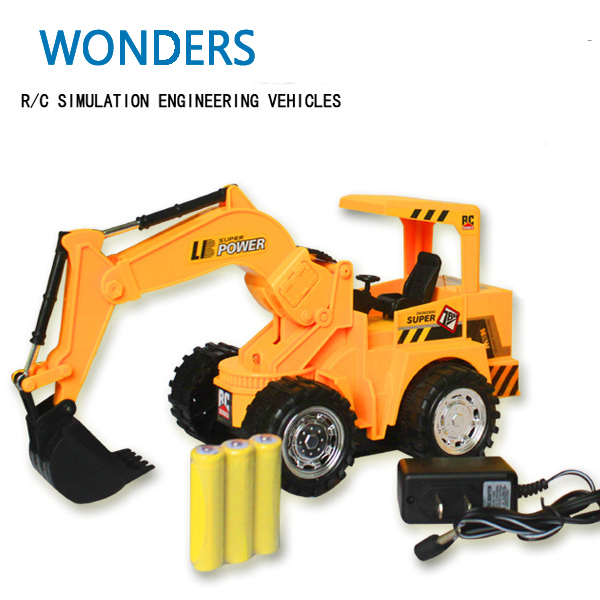 New arrival 6 channel remote control engineer simulation digger,r/c excavator,Dig Function,remote control childrens toy