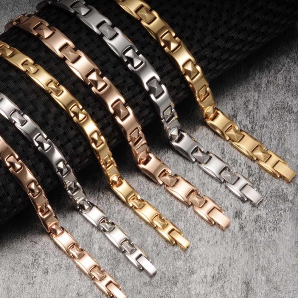 Vinterly kochanka magnetyczne bransoletki mężczyzn ze stali nierdzewnej zdrowia bransoletka energetyczna różowe złoto kolor stali nierdzewnej bransoletki magnetyczne dla kobiet