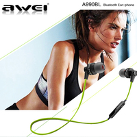 Original Awei A990BL Wireless Sports Earphones Headphone Bluetooth Headset For Iphone Samsung
