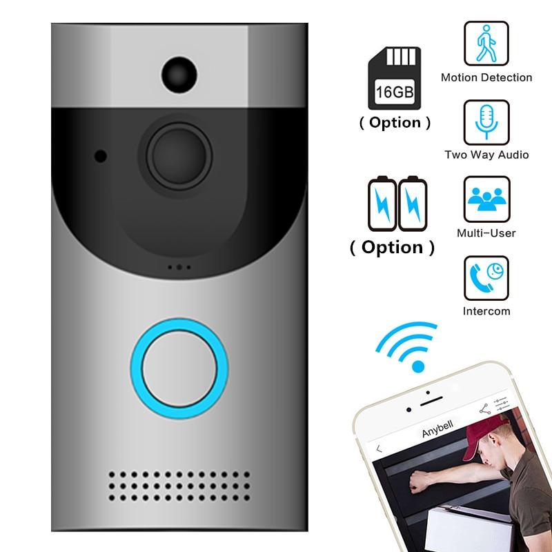 Anytek Wireless WiFi Video Doorbell Camera IP Ring Door Bell Two Way Audio APP Control IOS Android Battery Powered