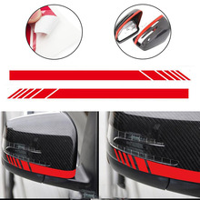 2pcs/set Red Car Side Rear View Mirror Stripe Decal Sticker for Mercedes Benz W204 W212 W117 W176 Edition 1 AMG Car-styling