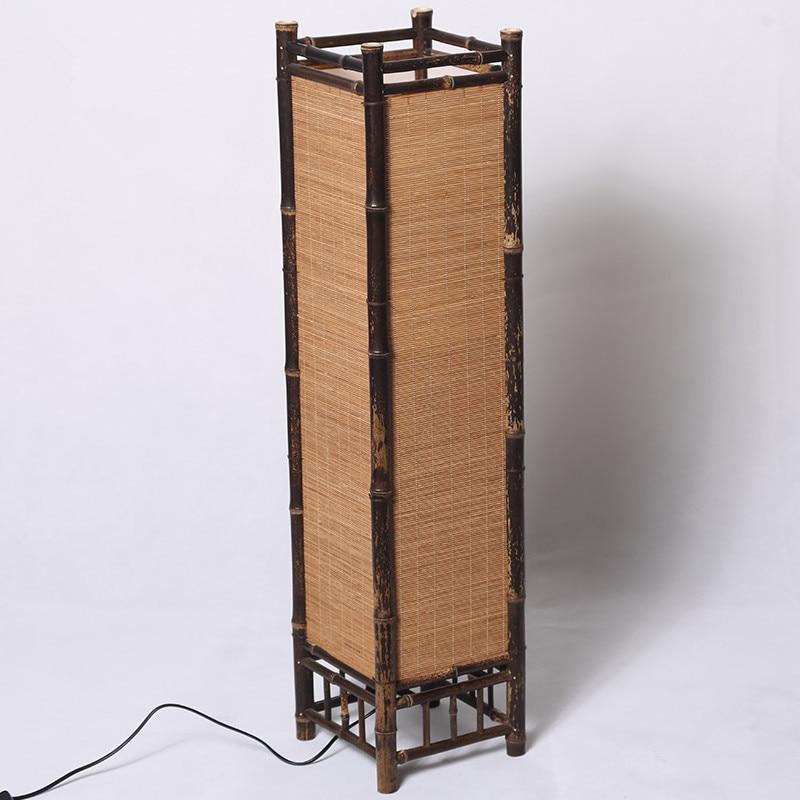 Vintage Håndværk Bambus Gulvlampe Japan Stil Bambus Lysarmaturer - Indendørs belysning - Foto 3