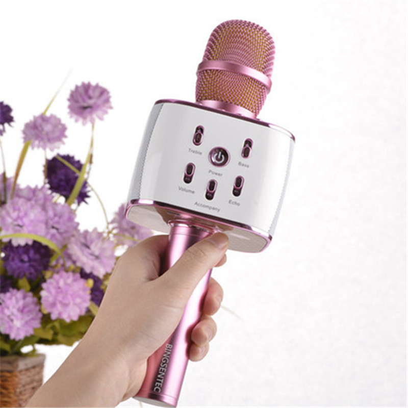 ФОТО Brand K10 Wireless Karaoke Microphone Bluetooth Handheld KTV Microphone Dual Speakers Outdoor Music Party For Iphone Android