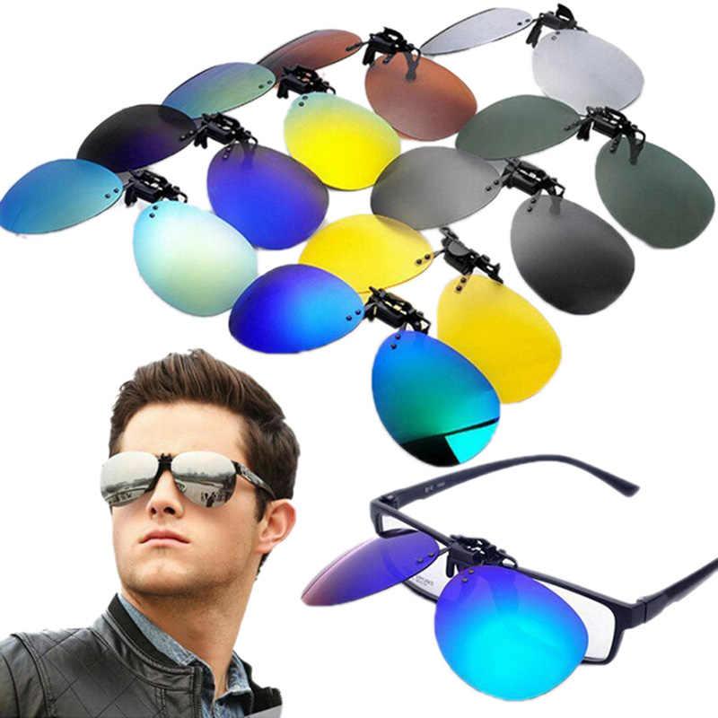 Mens נשים מקוטב קליפ על משקפי שמש נהיגה ראיית לילה אנטי UVA אנטי משקפי שמש קליפים רכיבה