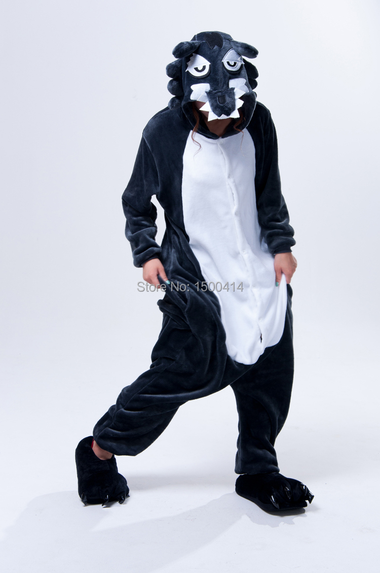 c18984310228 Adults Animal Cosplay Kigurumi Grey Wolf Costume Mens Onesies Pajamas For  Halloween Carnival Masquerade Party