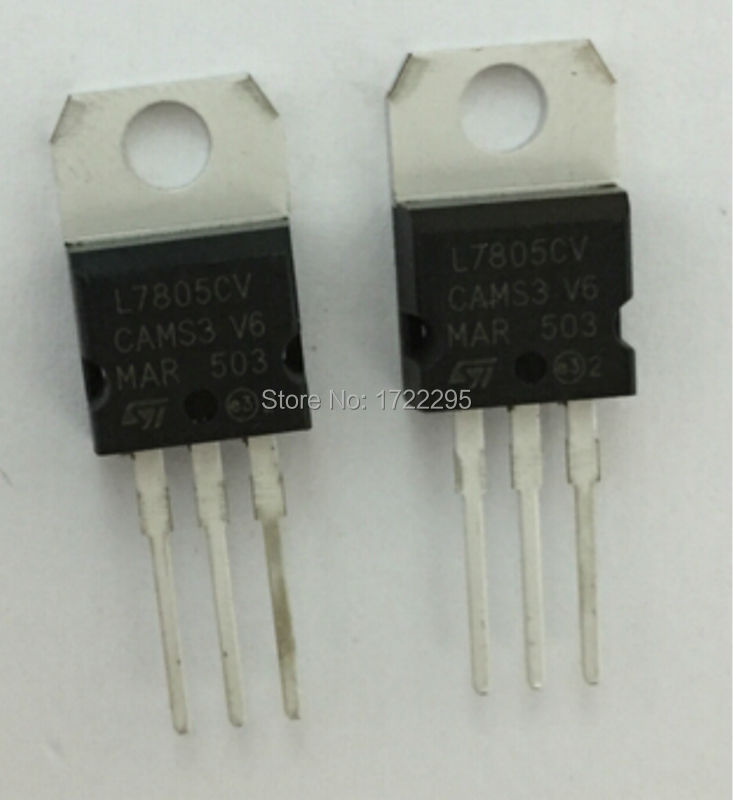 FREE SHIPPING 10PCS L7805CV L7805 LM7805 7805 TO220 TO-220 Voltage Regulator IC 5V