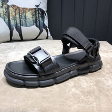 Summer fashion sandals men outdoor non-slip open-toed beach shoes Korean version casual slippers mens sandals genuine leather 2018 summer big size men s sandals british fashion genuine leather beach shoes mens casual massage non slip large slippers flats