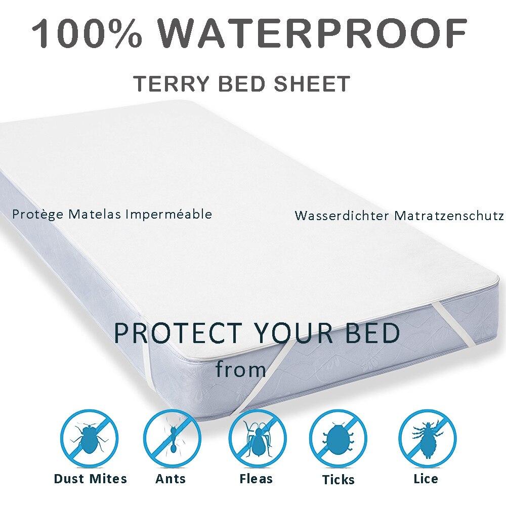 LFH 160X200CM Protector de colchón transpirable e impermeable Medidas de colchón