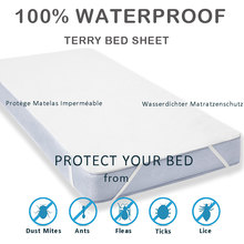 LFH New Terry Cloth Waterproof Bed Sheet For Mattress Pad & Topper With Band Bed Protector Waterproof Mattress Protector(China)