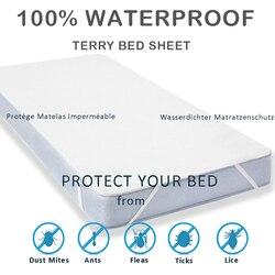 Lfh novo pano terry folha de cama à prova dwaterproof água para colchão almofada & topper com banda protetor cama protetor colchão à prova dwaterproof água