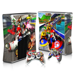 Image 3 - For Super Mario Skin Sticker Decal For Xbox 360 Slim Console and Controllers Skins Stickers for Xbox360 Slim Vinyl