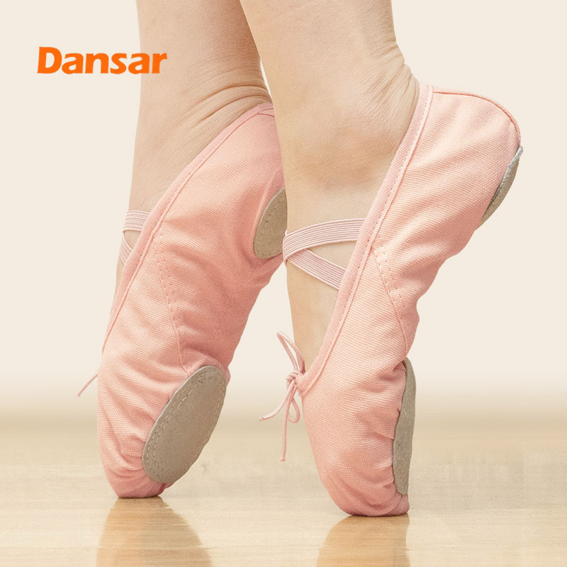 Yoga Gym Flat Slippers,Pointe Dance Shoes For Women Girls Children Kids Adult,Ballet Shoes Canvas,Soft Sole Training Shoes