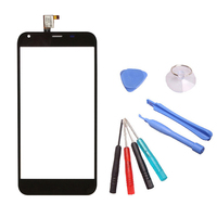 LINGWUZHE Sensore Pannello Nero Touch Screen Glass Digitizer + Strumenti Per Arca di Beneficenza M7 5.5 Pollice
