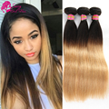 7A Brazilian Virgin Hair Straight Ombre Honey Blonde Ombre Brazilian Hair Straight Weave Cheap Brazilian Straight Hair 3 Pcs