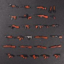 28pcs Moc WW2 Army Military weapon Guns Mini building blocks brick Figures toys for children