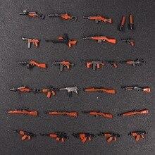 28 pcs Moc arma Militar Do Exército WW2 Armas Mini Figuras blocos de construção de tijolos brinquedos para as crianças