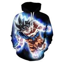 Anime Hoodies Dragon Ball Z Pocket Hooded Sweatshirts Goku 3d Hoodies Men Women Long Sleeve Harajuku
