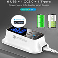 Quick Charge 3,0 Smart USB Typ-C Ladegerät Station Led-anzeige Schnelle Lade Telefon Tablet USB Ladegerät Für SmartPhone xiao Adapter