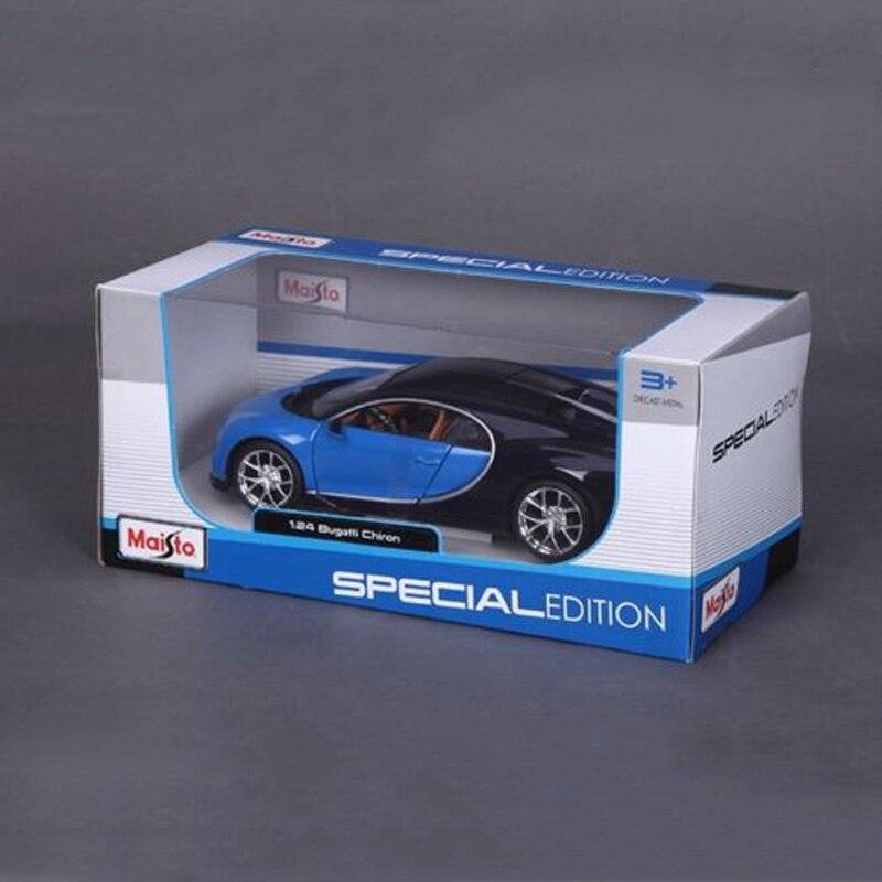 bugatti chiron modèle de voiture jouets 1/24 Échelle bleu