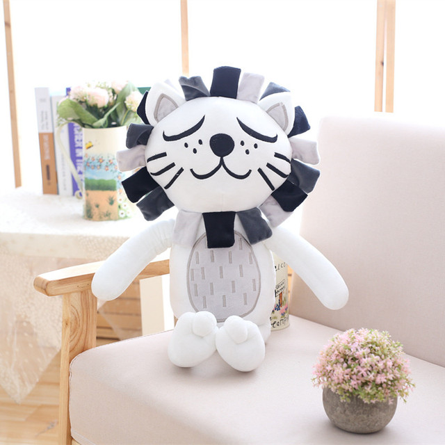 40/60cm Kawaii Plush Cat Lion Doll Toys For Children Room Decor soft Stuffed Plush Toy Kids Baby Appease Doll Christmas Gift