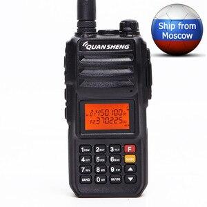 Image 1 - Quansheng TG UV2 PLUS wysoka moc 10W 5 pasm 136 174MHz/policja 350 390MH/400 470MHz 4000mAh 10KM daleki zasięg 200CH Walkie Talkie