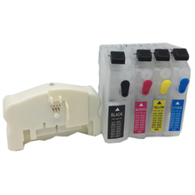 QE-665 Chip Resetter + Refillable Ink Cartridge for brother LC203 LC205 LC207 LC211 LC213 LC215 LC217 LC223 LC225 LC227 LC233 refillable cartridge chip resetter for brother lc223 lc203 lc213 lc233 empty cartridge for brother mfc j4420dw mfc j5320dw