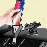 Multifunctional Car Phone Holder Flexible Car Windshield Mobile Holder Suction Mount GPS Stand Dashboard Air Outlet for iPhone
