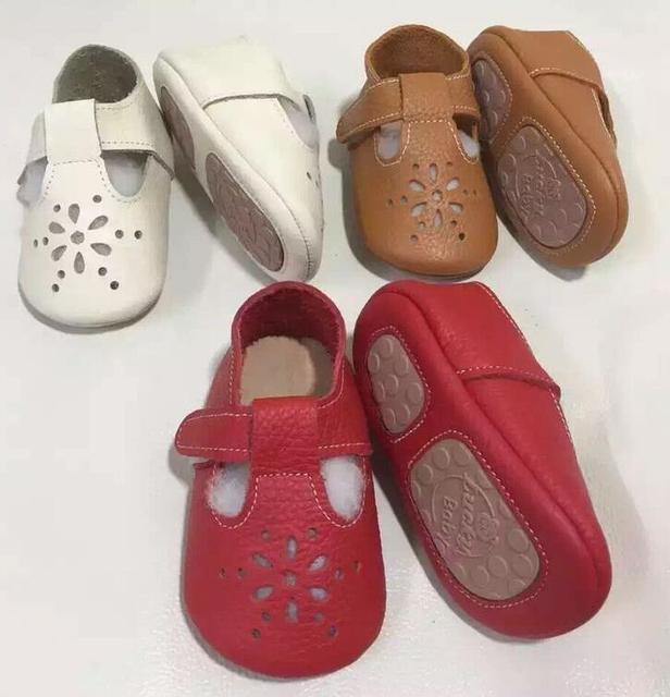 Массовая 10 пар/лот Новый Maryjane мелкой Натуральная Кожа Детские Мокасины ребенка твердой подошве, Первый Ходок Chaussure Bebe Новорожденные обувь